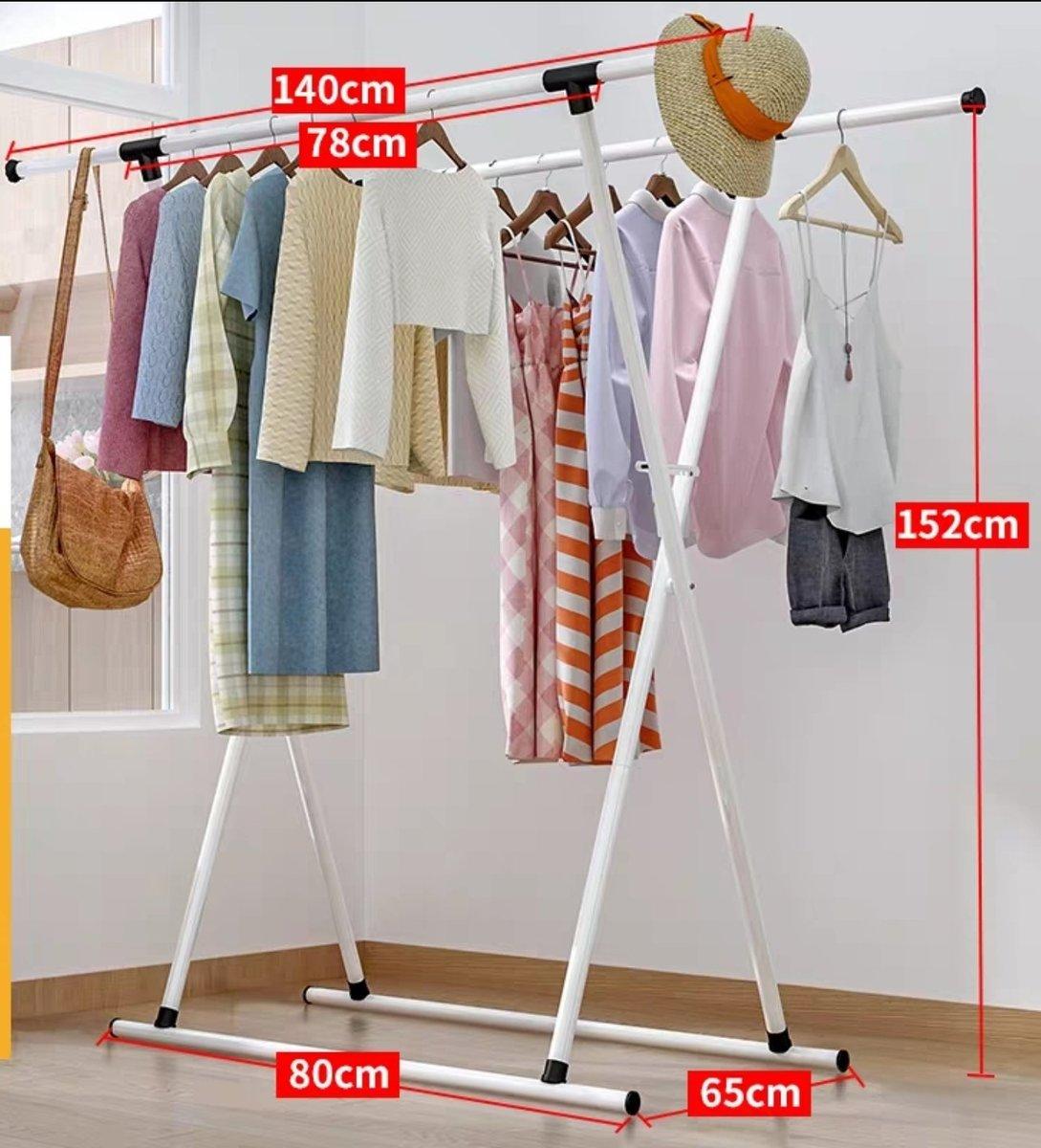 Retractable Double Bar Hanger - F-White (X54)
