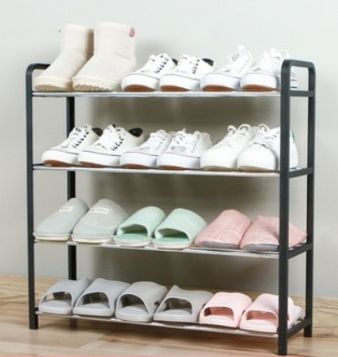 Four-layer shoe rack