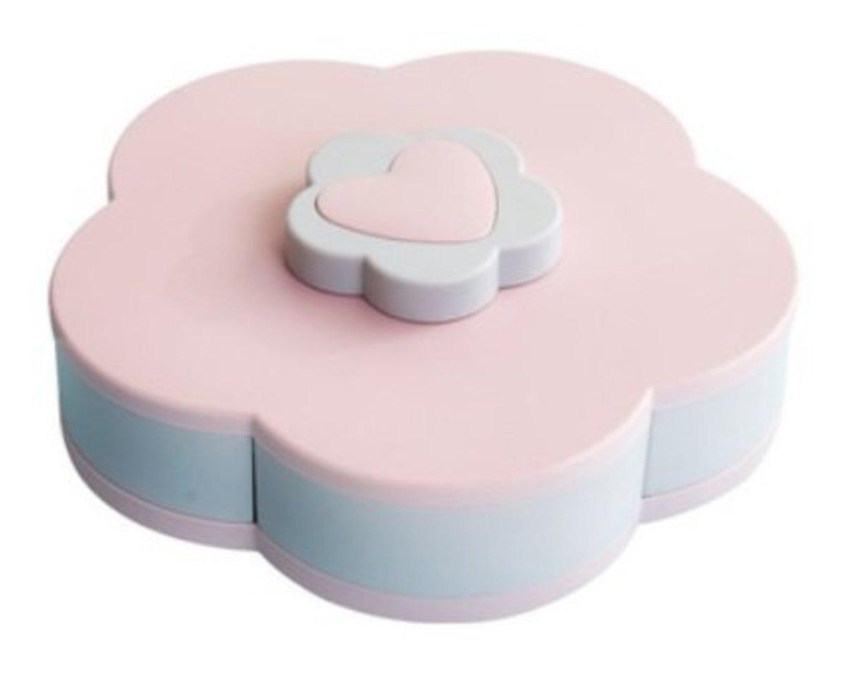 北歐旋轉花形糖果盒-粉紅色
