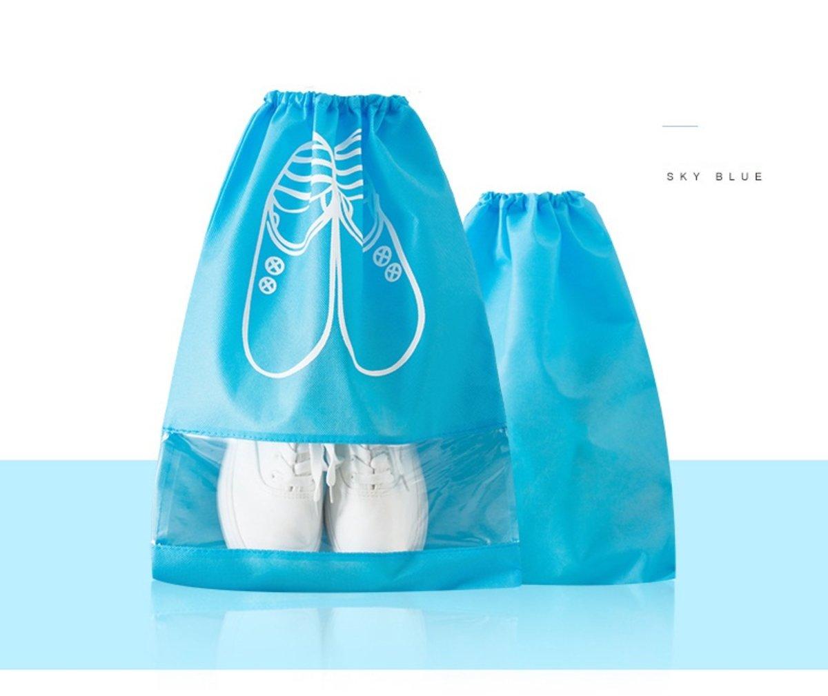Home Travel Storage Shoe Bag - 5 Large 5 Medium (Light Blue)