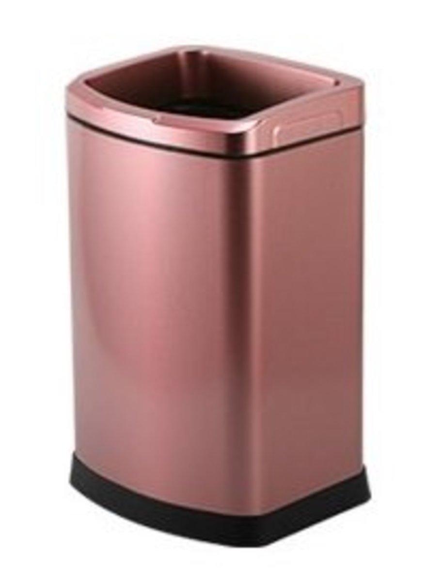 Stainless Steel Waterproof Anti-fingerprint Trash Can 12L-Pink (A4)