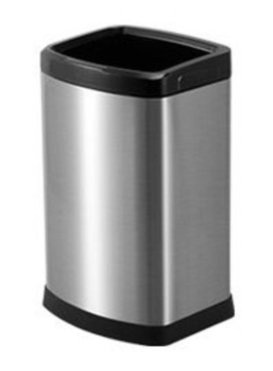 Stainless Steel Waterproof Anti-fingerprint Trash Can 12L-Silver (A4)