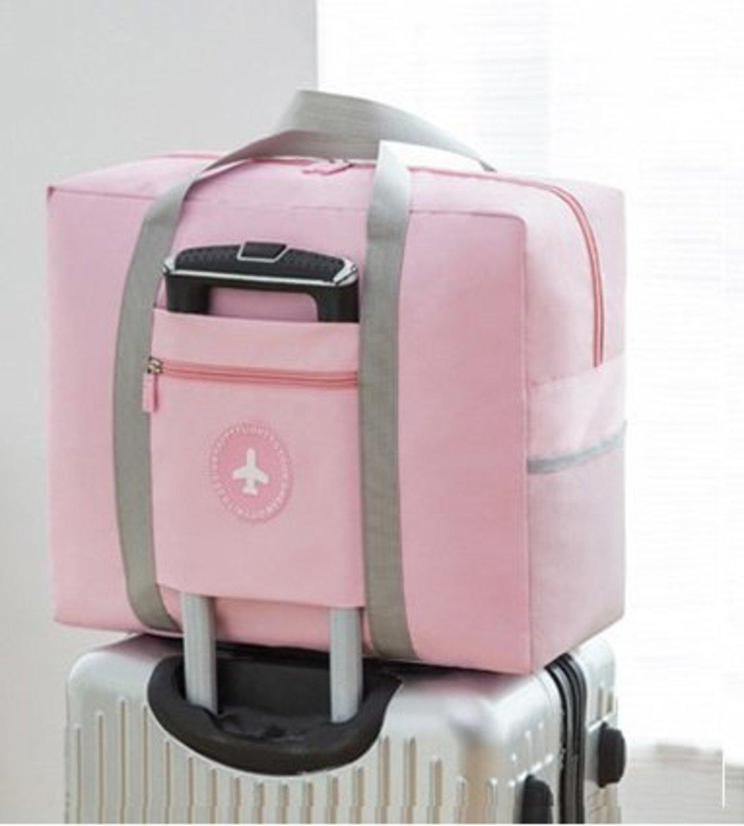 Waterproof Oxford Folding Travel Bag-Pink