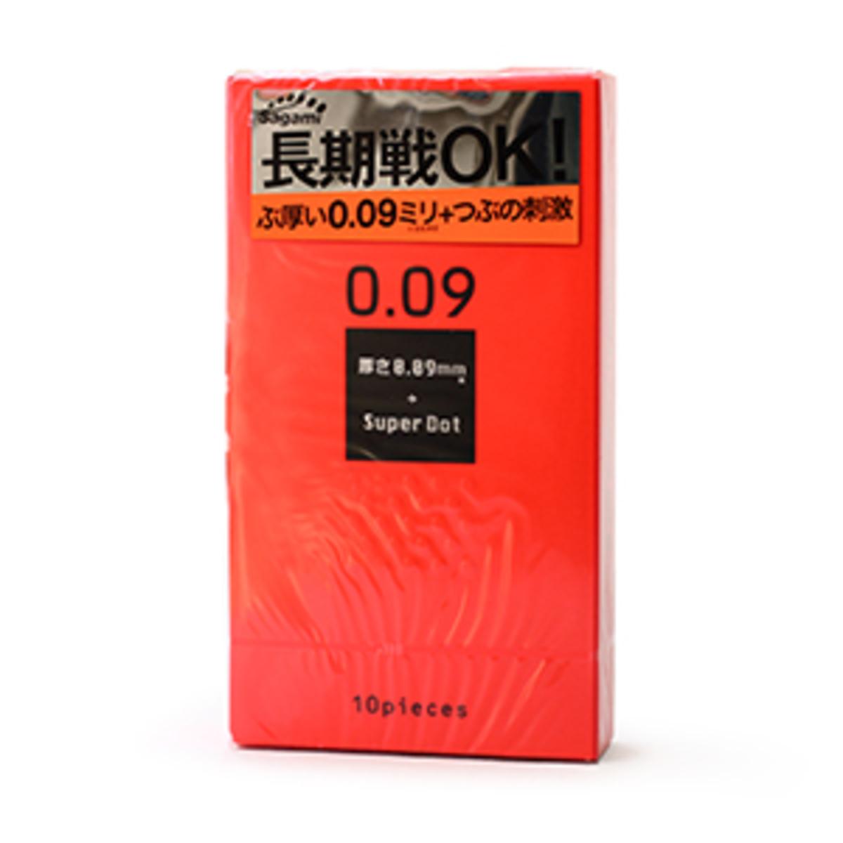 Sagami 0.09 Dots Delay Latex Condom(10pcs)