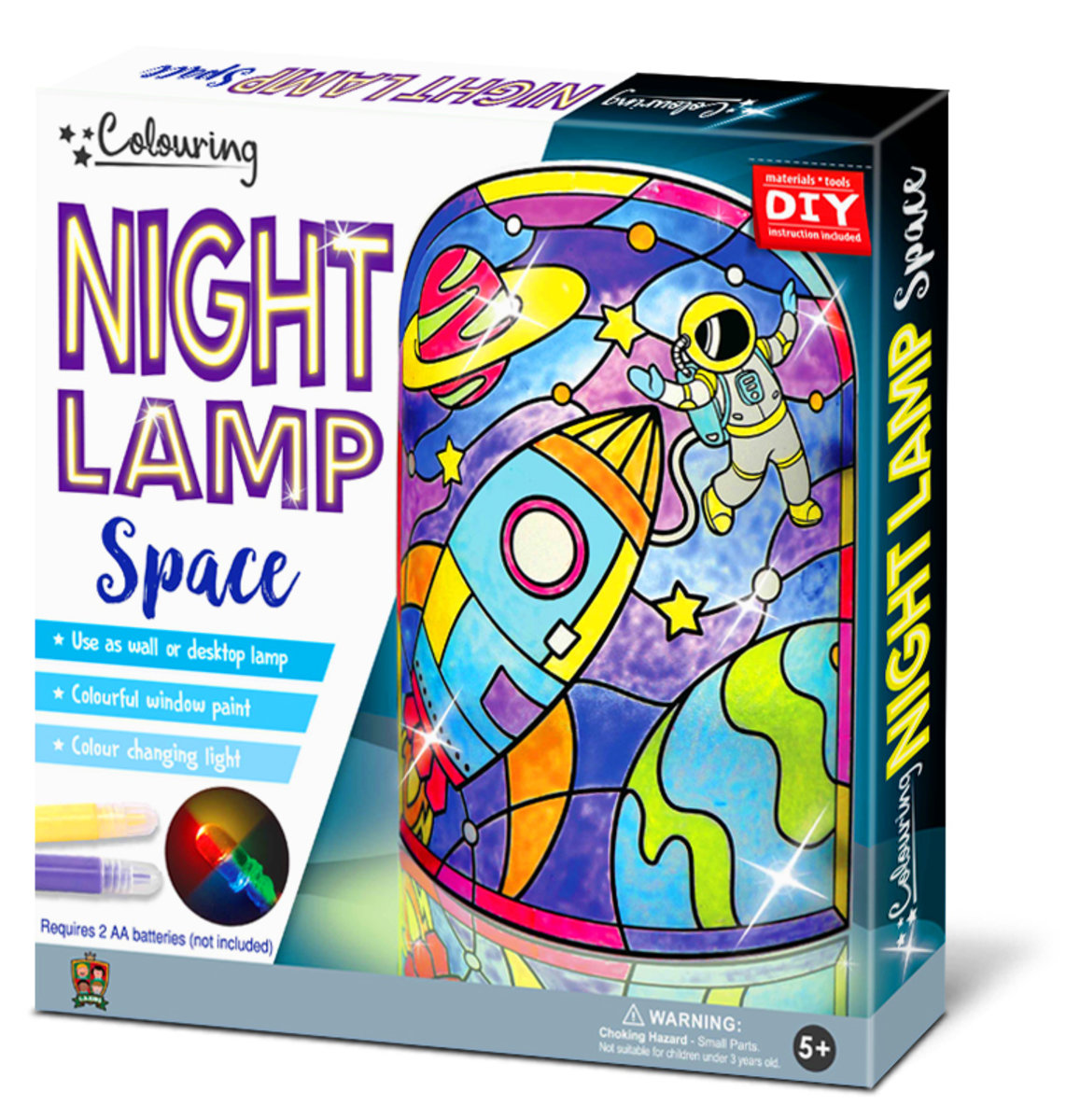 C S Kids Diy Magic World Space Night Lamp Kit For Kids Stained Glass Color Changing Led Bedroom Light Hktvmall Online Shopping