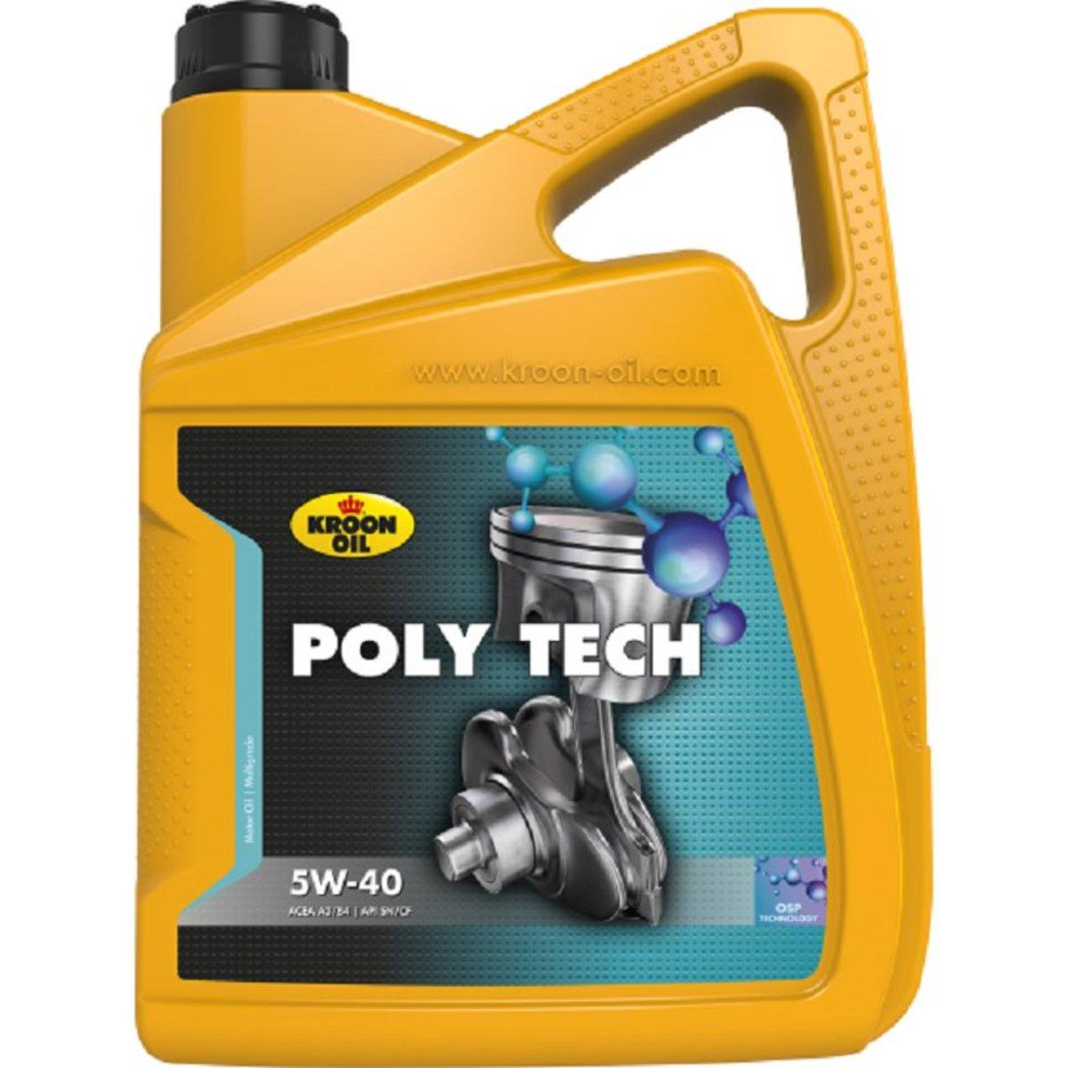 KROON-OIL Poly Tech 5W-40 全合成機油/偈油 (API SN / BMW Longlife-01 / Porsche A40 / MB 229.3/226.5)