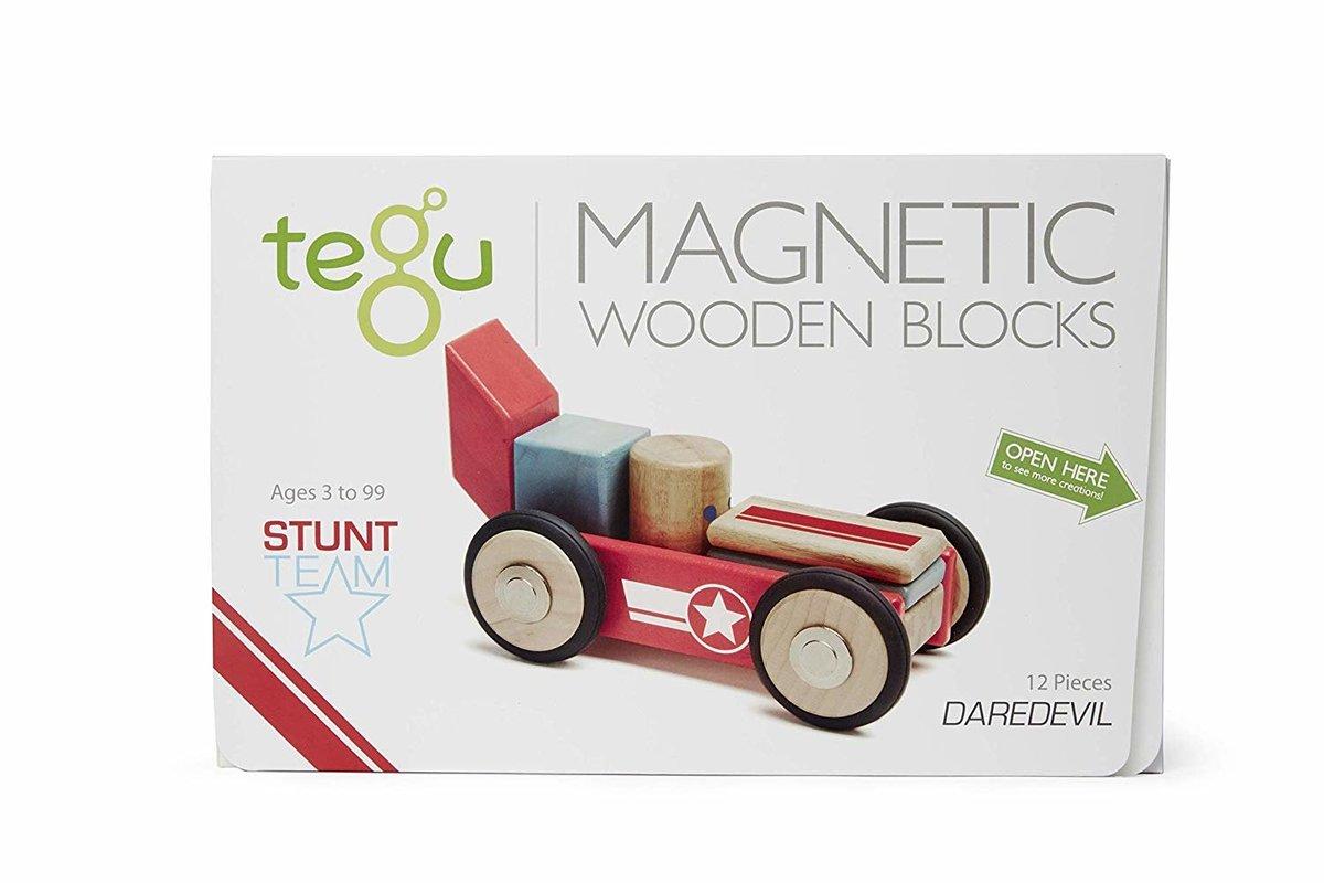 Tegu 25 件磁性木製積木套裝