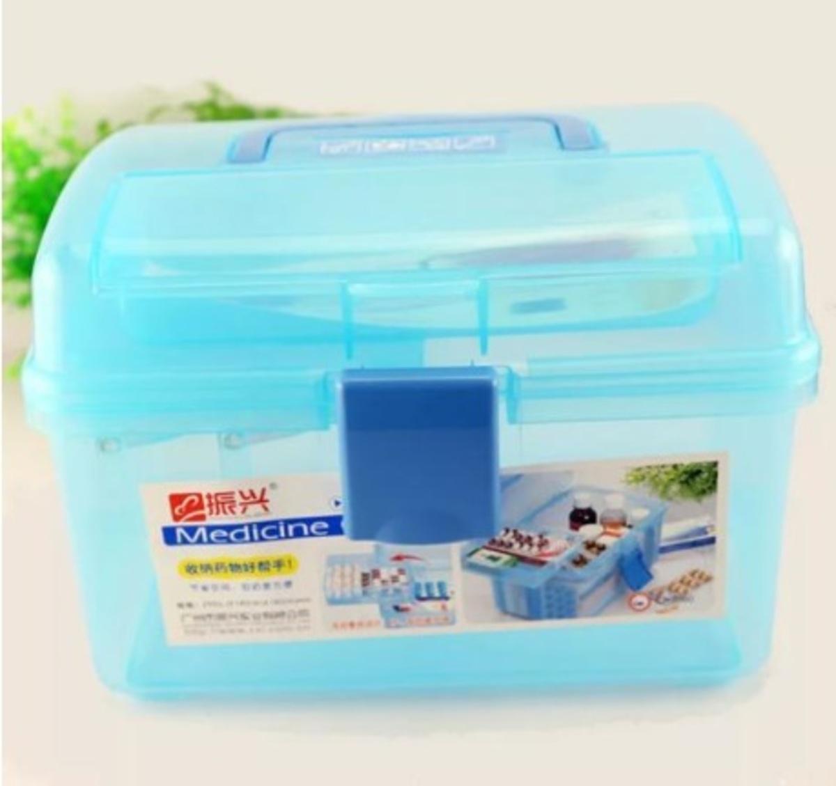 多用途藥箱 (藍色/透明綠)