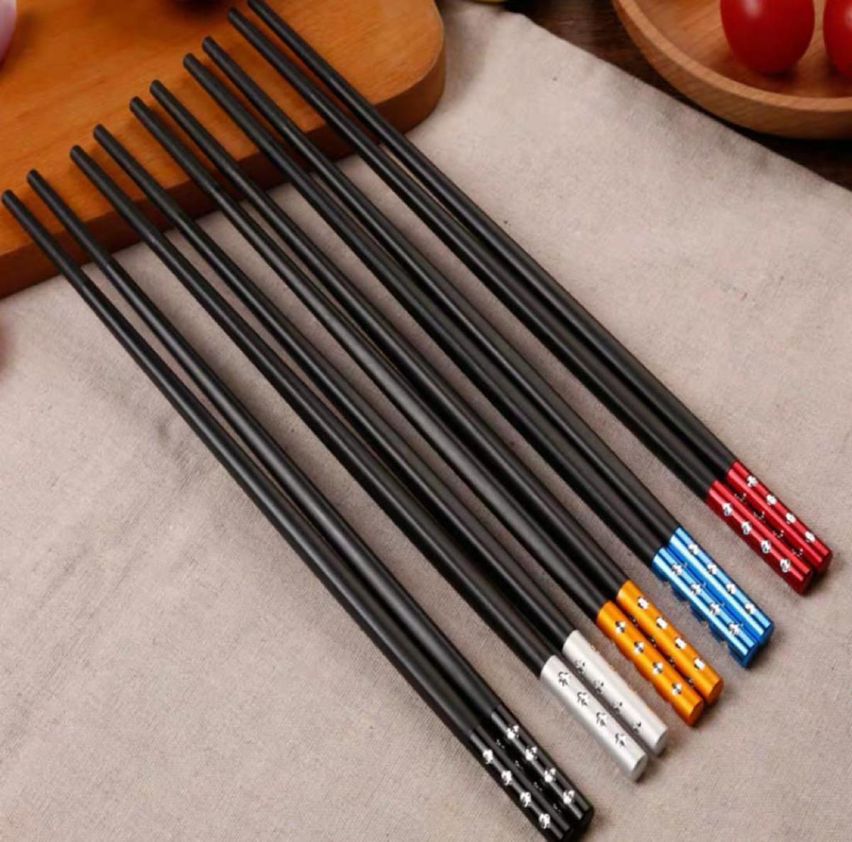點鑽合金筷子(5對裝)-點點