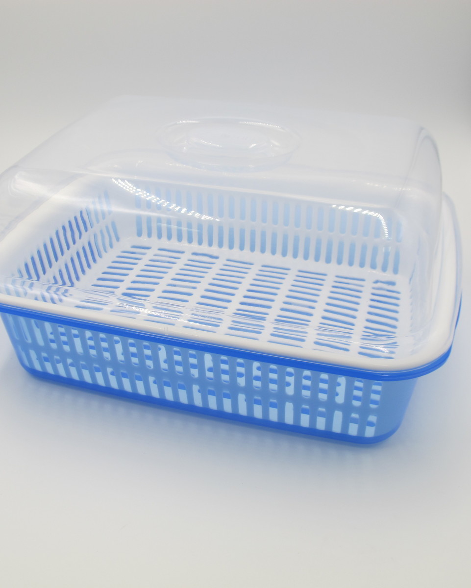 Multiple Dishrack with Cover (Small) (Blue)