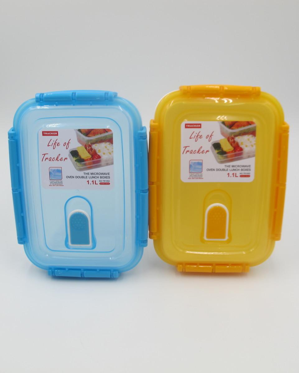 1.1公升雙層飯盒 (藍/橙)