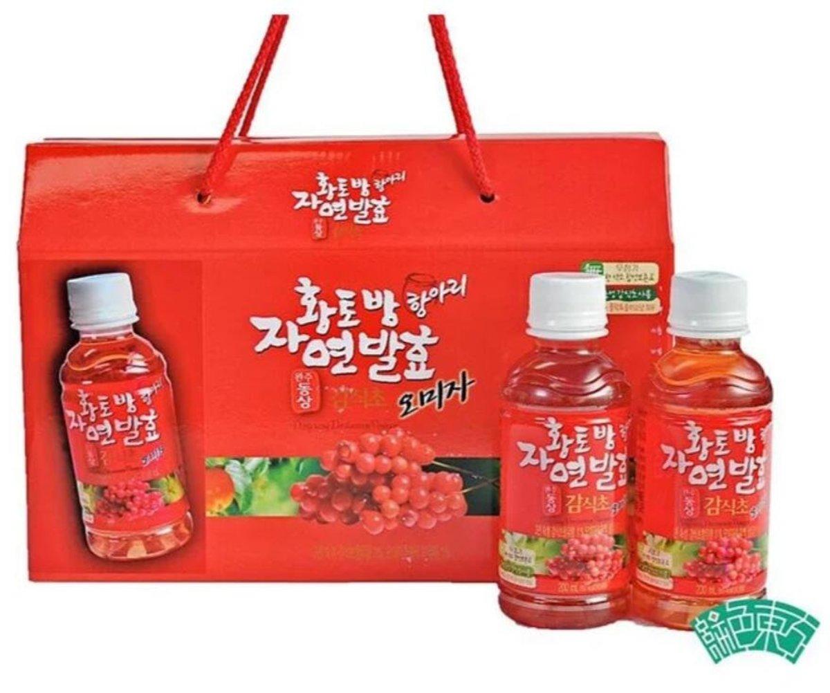 完州郡柿醋五味子果汁 - 盒(200ml X10瓶)