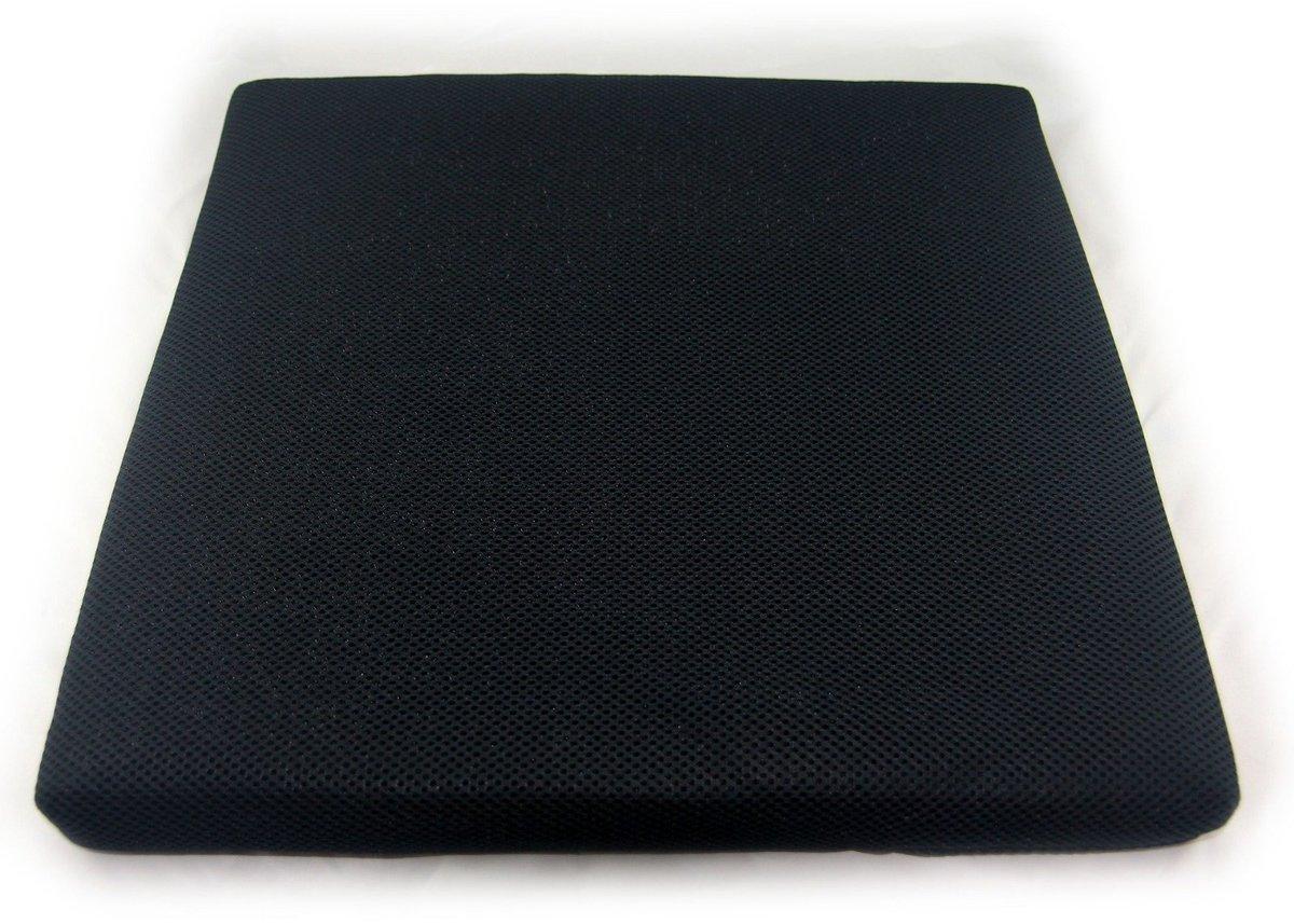 洗水防滑透氣座墊 - 純黑色 (厚: 4厘米)