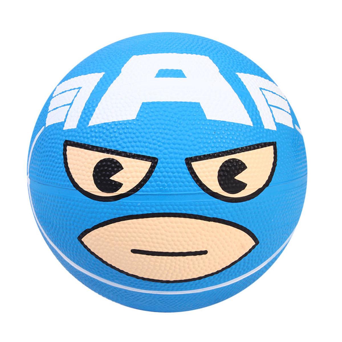 美國隊長籃球   #3 CAPTAIN     藍色--膠籃球 [迪士尼許可產品]