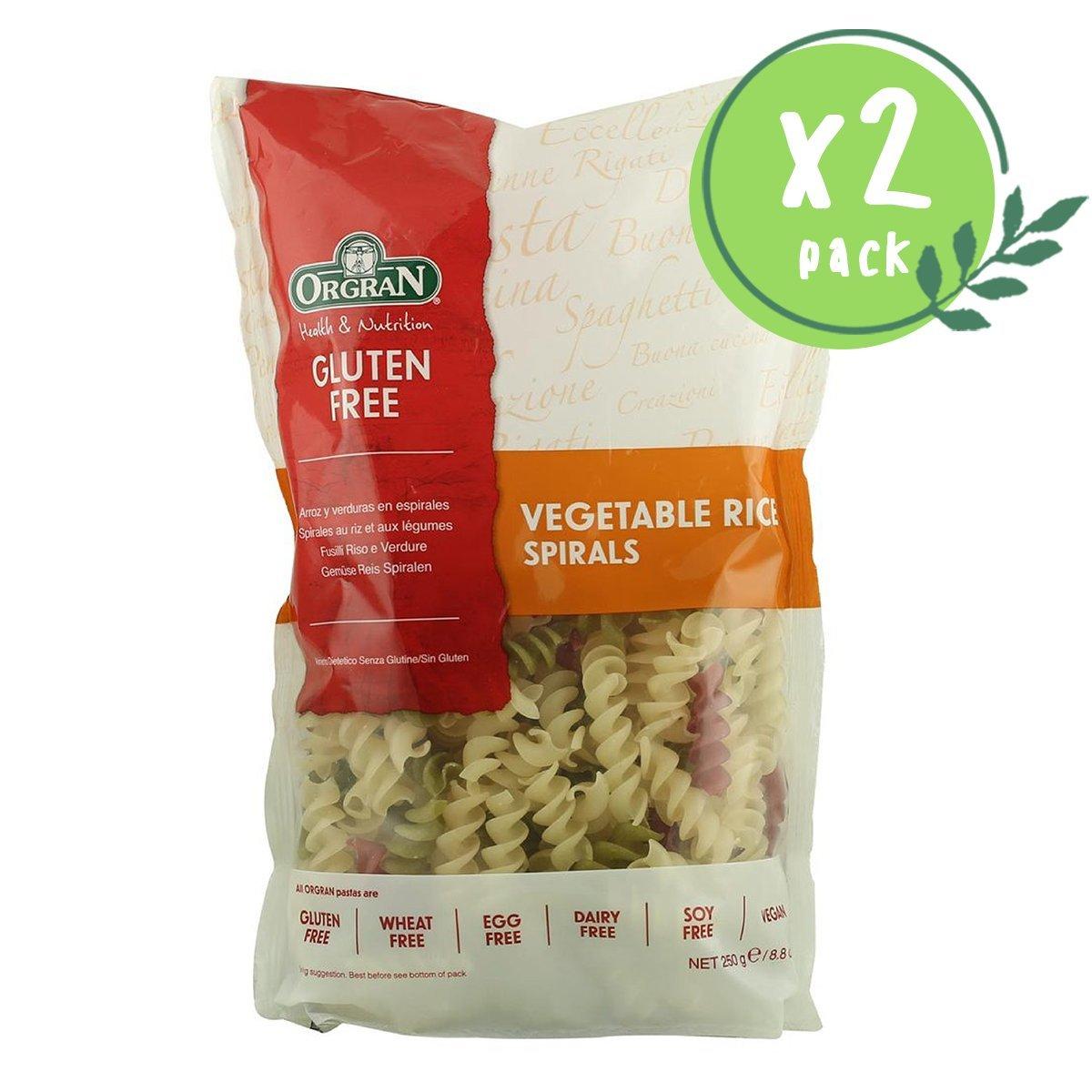 Gluten Free Vegetable Rice pasta spirals (Low Allergy) (2 packs)
