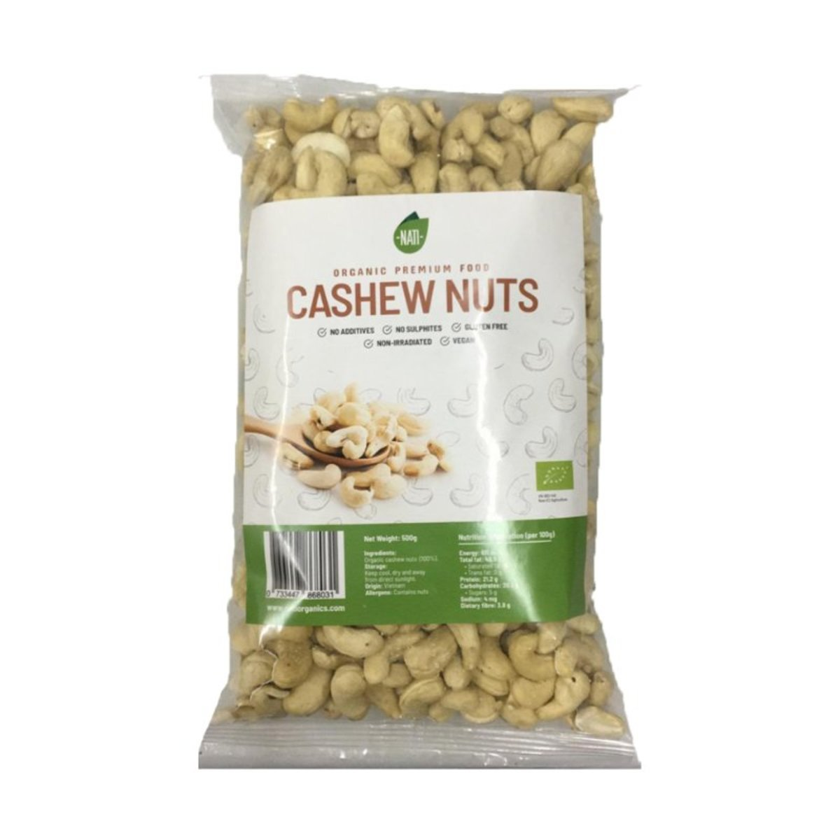Organic whole Cashew Nuts  (non-bake, keto, healthy snack)
