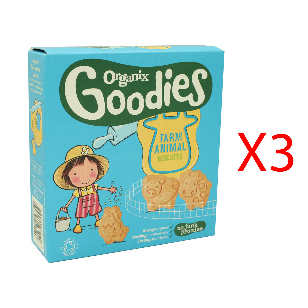 Goodies Organic Animal Biscuits (3 Boxes)