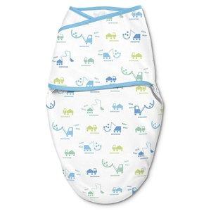 summer infant WHISPER QUIET™ 全棉嬰兒包巾 - 建築工程車 1件裝