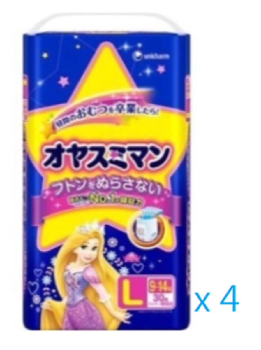 Moony - L30 女仔夜褲 公主 大碼 30片裝 x4包 (原箱優惠) (平行進口)