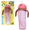 Pigeon Tall Straw Bottle 330ML PINK [Parallel Import]