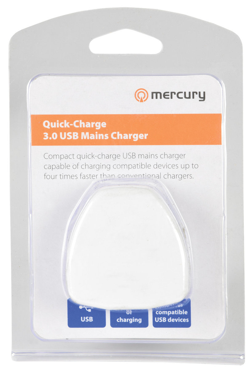 Quick-Charge 3.0 USB Power Supply Plug 18W (1 Pack)