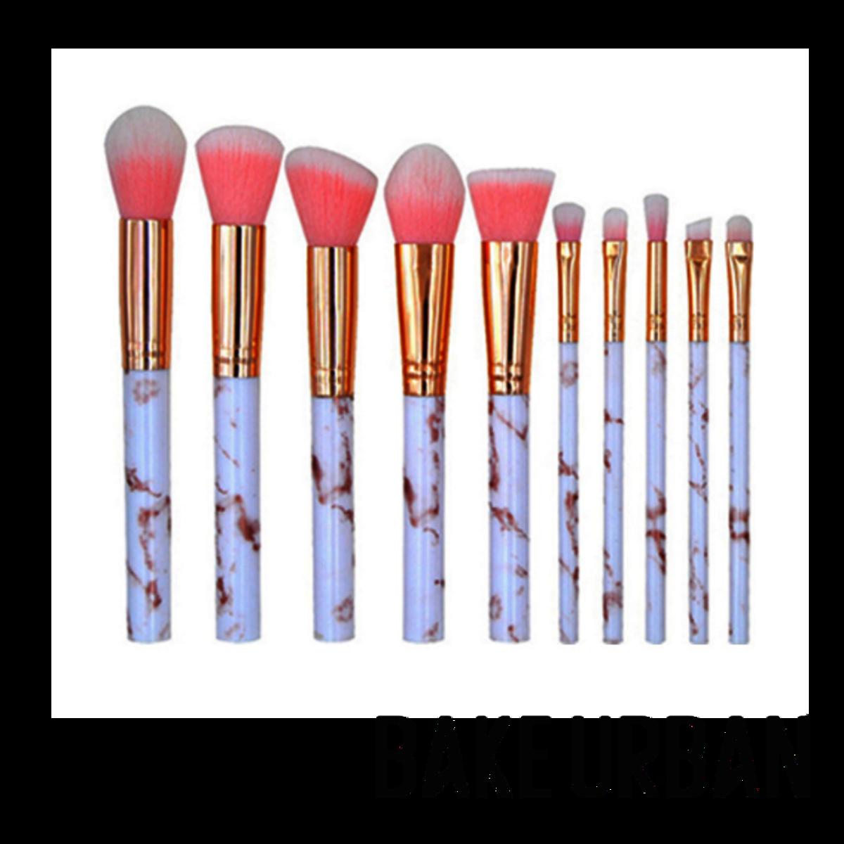 粉紅大理石紋化妝掃套裝:BU10