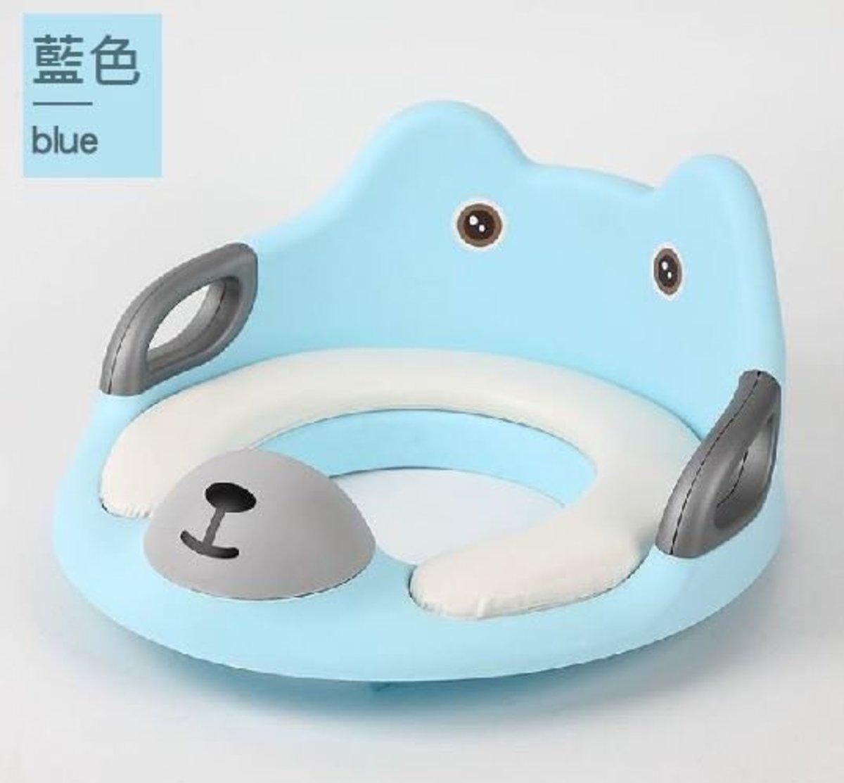 嬰兒/兒童坐便器 (帶扶手) 小熊藍色
