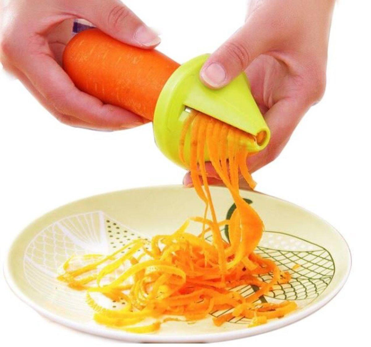 多功能螺旋形切菜器/切絲器-綠色