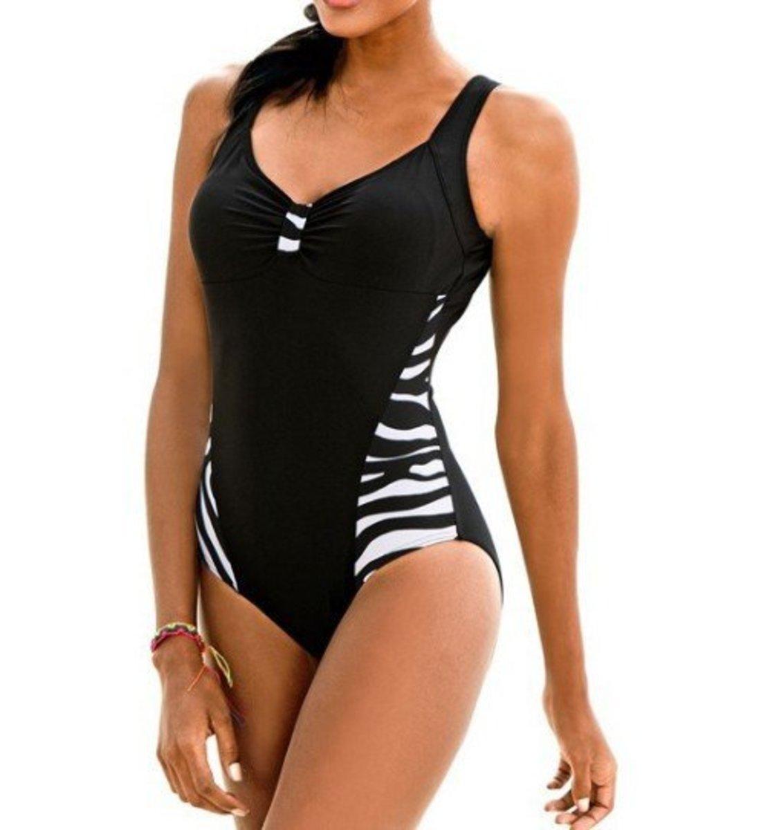 大碼泳衣 尺碼: L