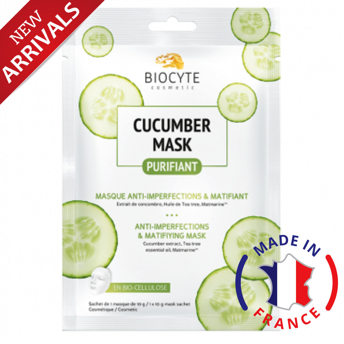 Cucumber Mask Purifying Anti-Imperfections and Matifying Mask 10g