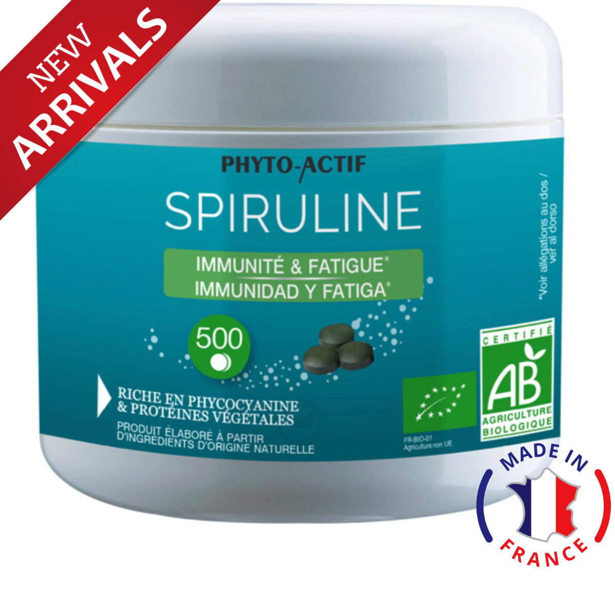 Spirulina Organic Made in France 500 caps