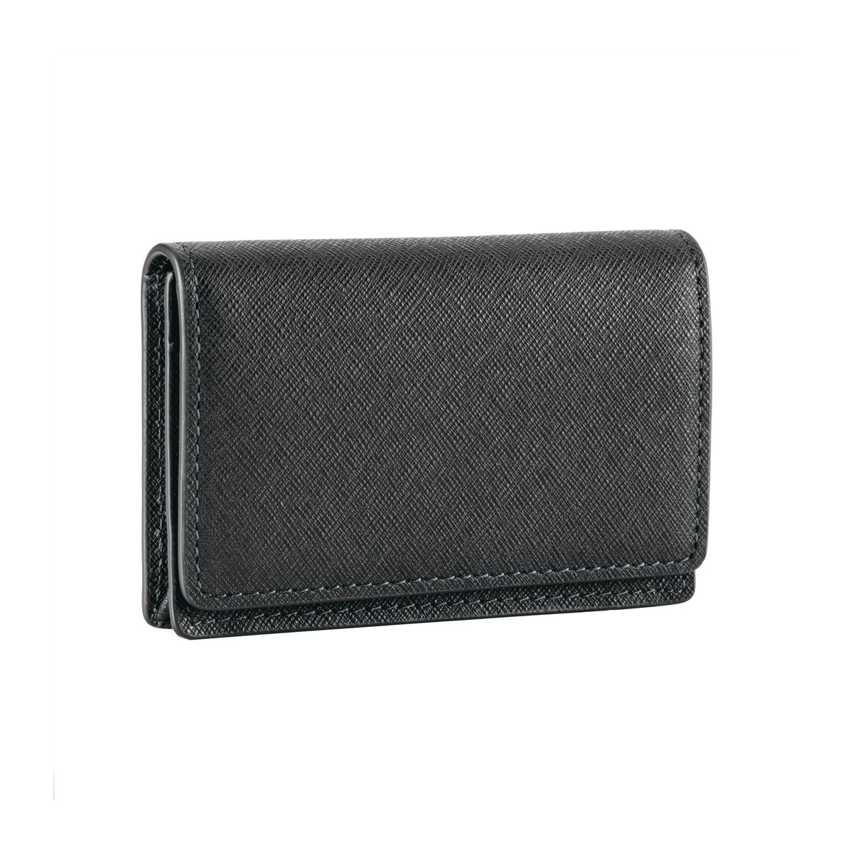 Black Sartorial Leather Business Card Case