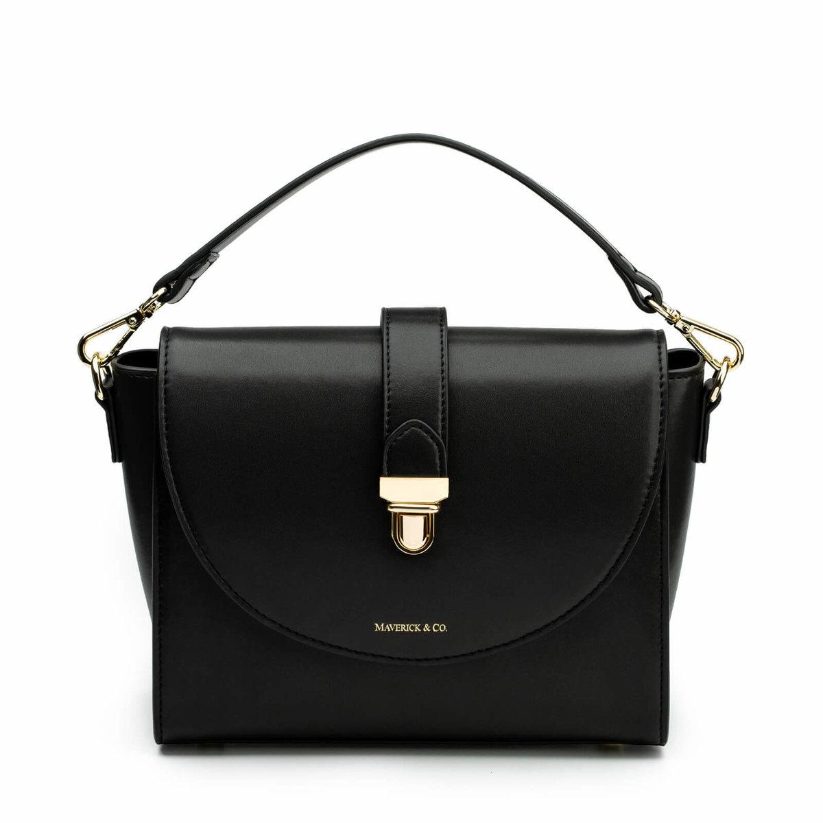 Athena Lustre Crossbody Bag (Night Black)