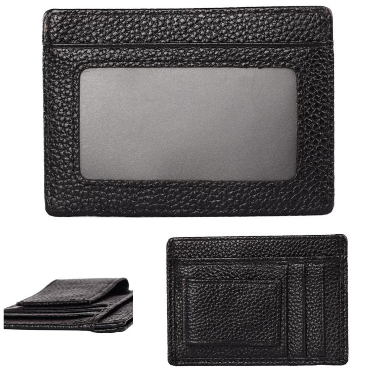 Magnetic Imitation leather Wallet(black)