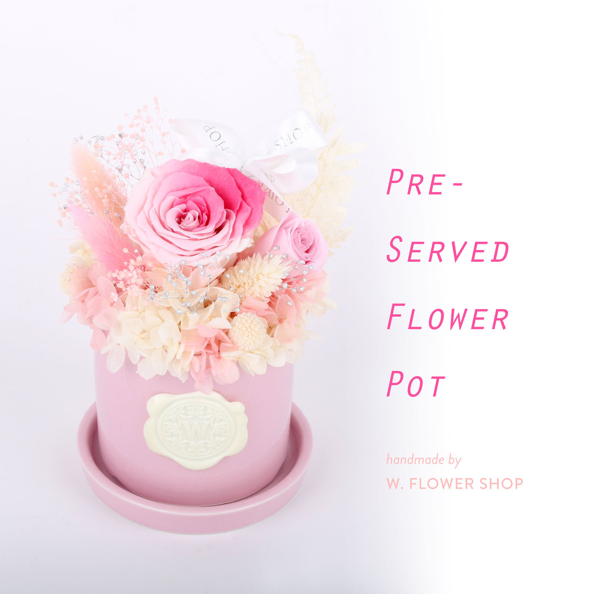 PRESERVED FLOWER POT - Pink