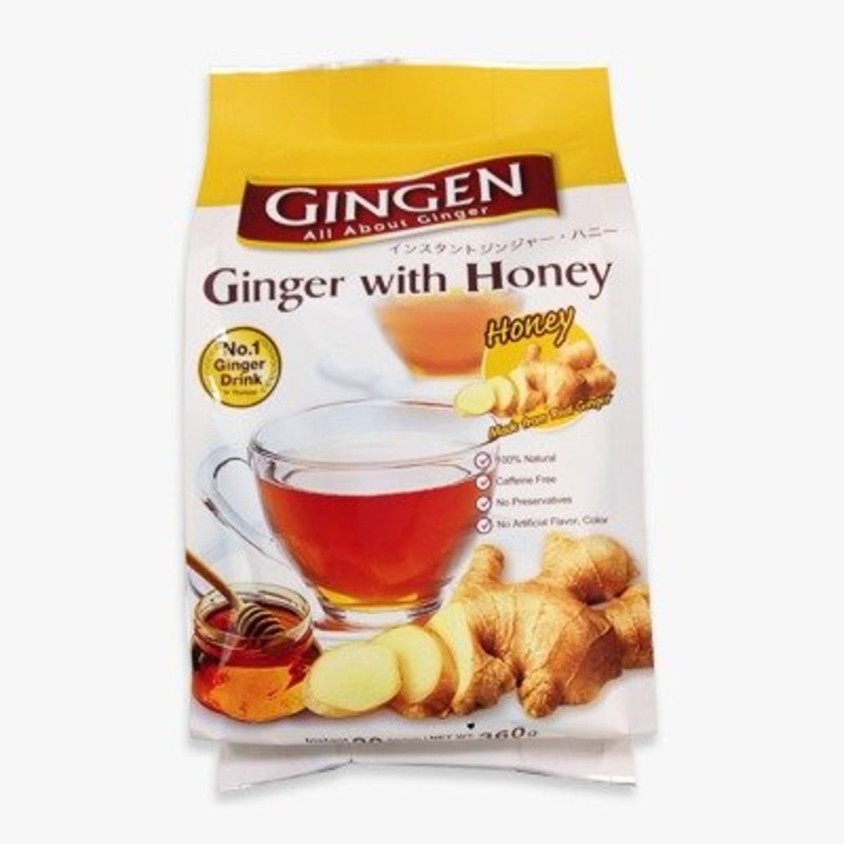 Gingen (With Honey)Instant Ginger  (18g x 20 sachets)