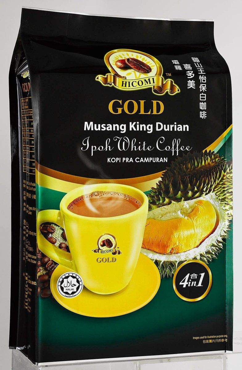Hicomi 3in1 Durian With Coffee (38g x 12 sachets)