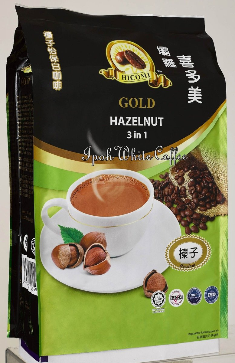 Hicomi 3in1 Hazelnut With Coffee  (40g x 12 sachets)