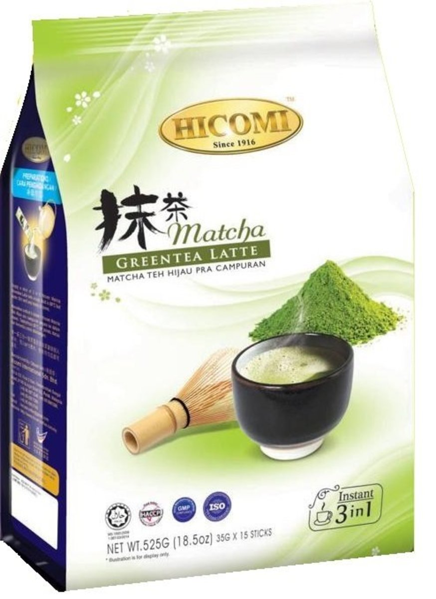 Hicomi Green Tea Latte (35g x 12 sachets)