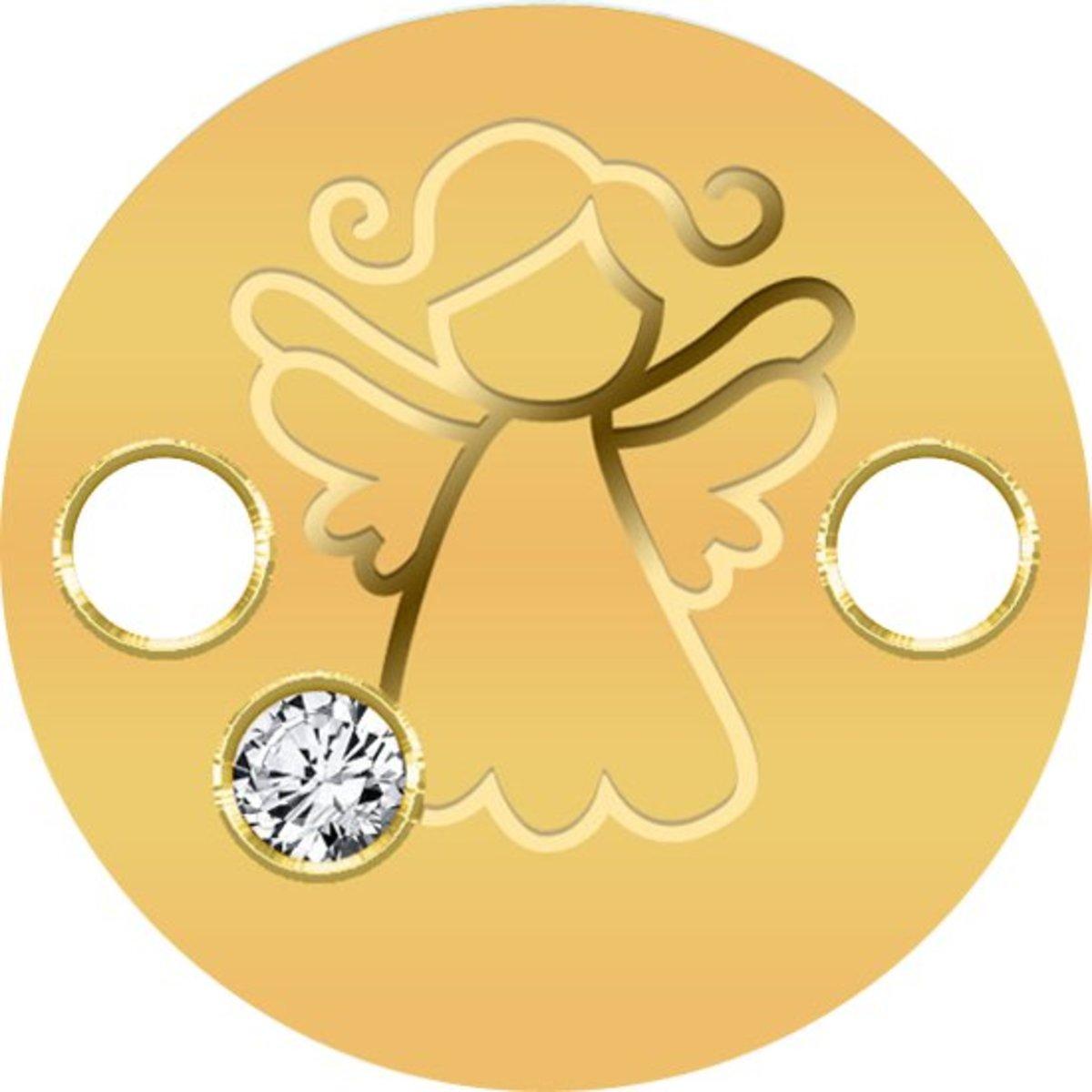 紐埃 2018 小天使 90.0% 金幣連手繩(含Swarovski水晶) 1克