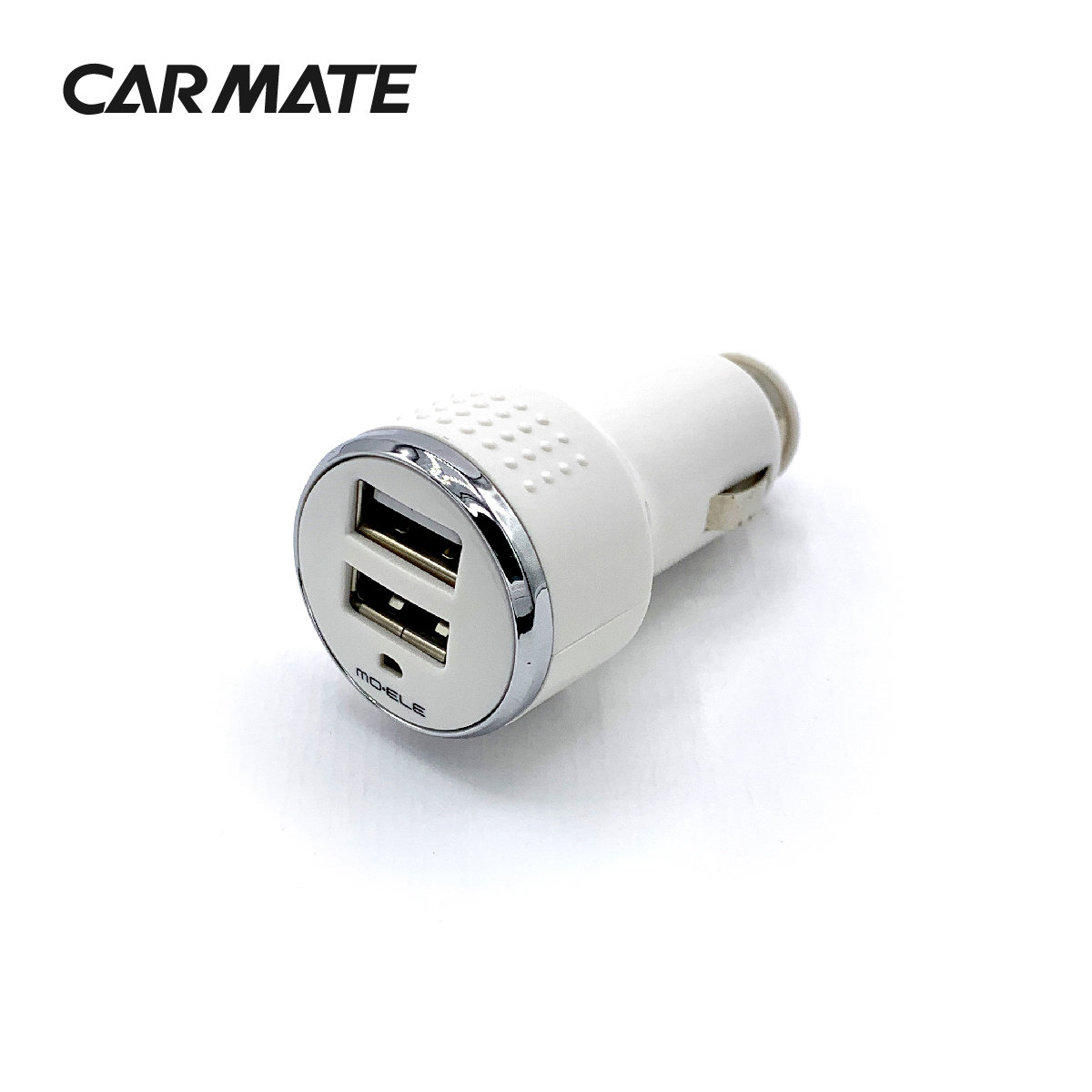 CARMATE - IN-CAR USB CHARGER 3.1A - WHITE