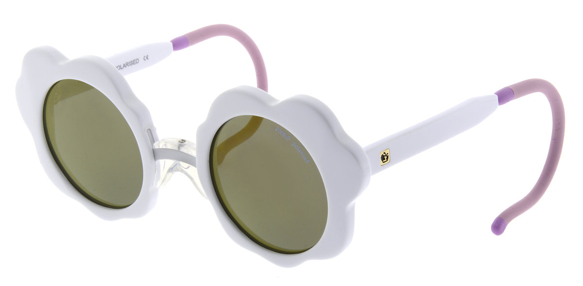 UK London Baby Polarised Sunglass ZB5026 Daisy White  (0-3 years )