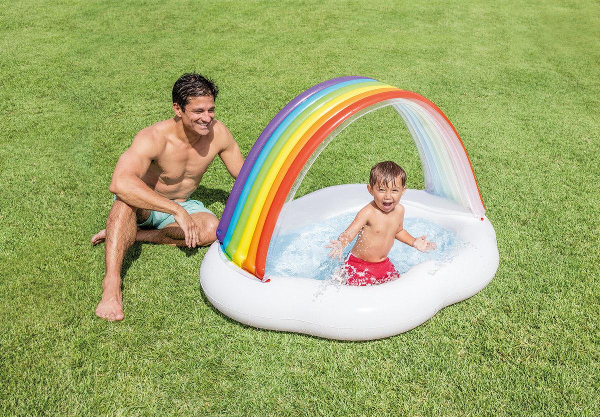 Rainbow Cloud Baby Pool