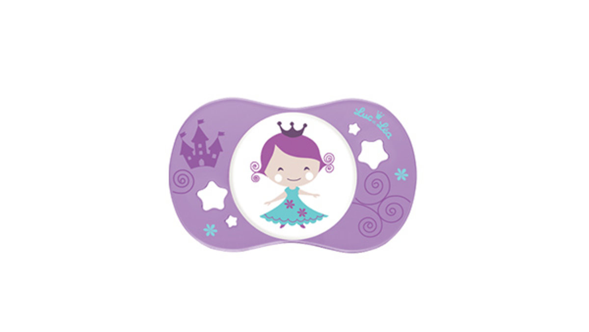 (適合18個月或以上)法國LEL趣緻奶嘴-粉紫小女孩