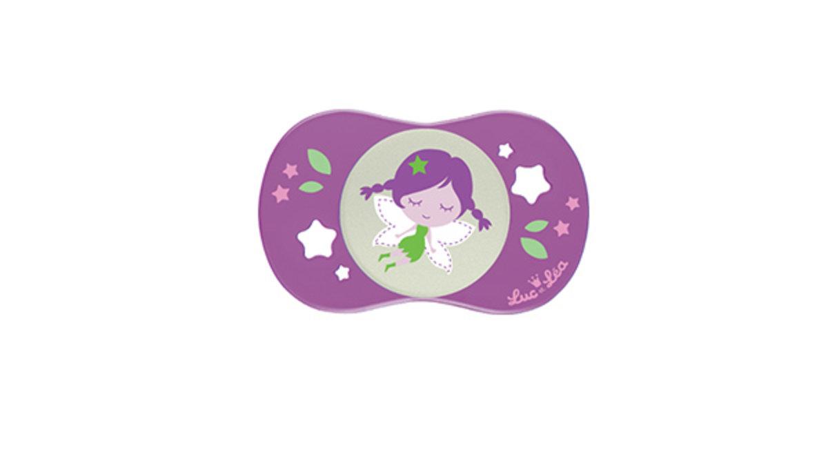 (適合18個月或以上)法國LEL趣緻奶嘴-深紫小女孩