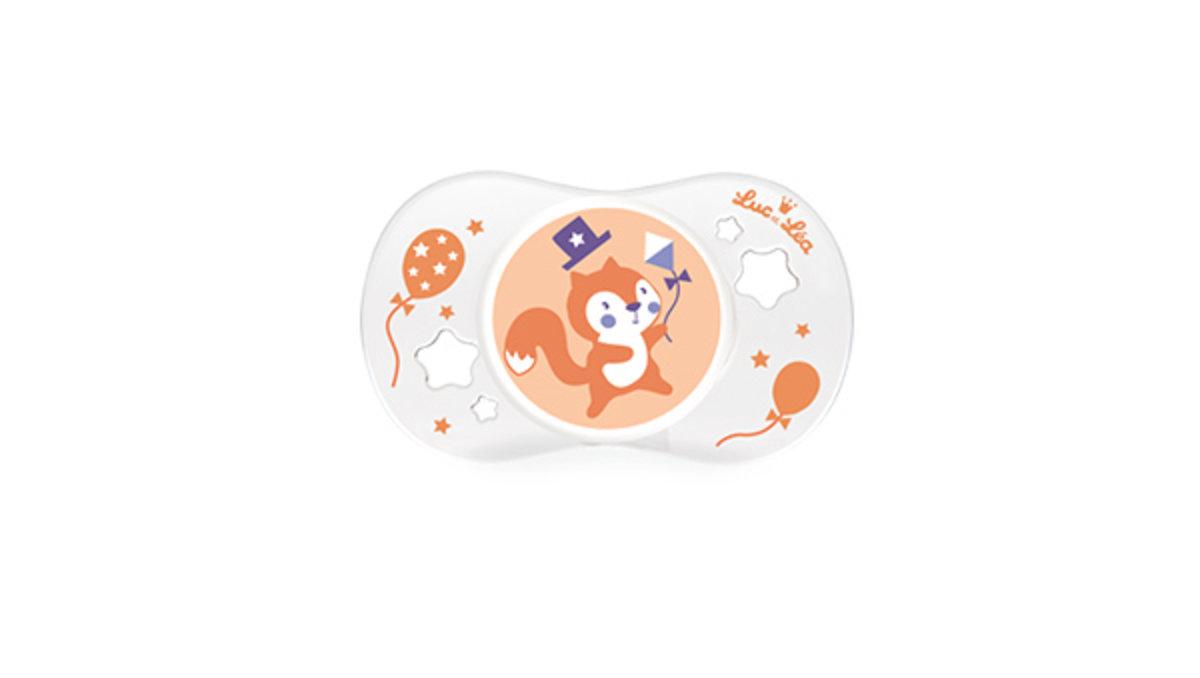 (適合18個月或以上)法國LEL趣緻奶嘴-可愛小松鼠
