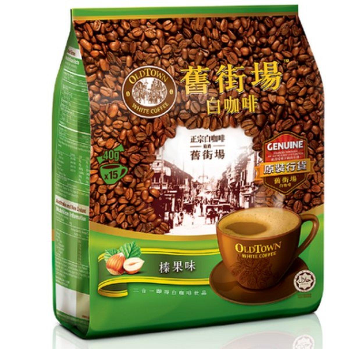 Instant Premix Hazelnut White Coffee 15 Sticks (9555076300086)