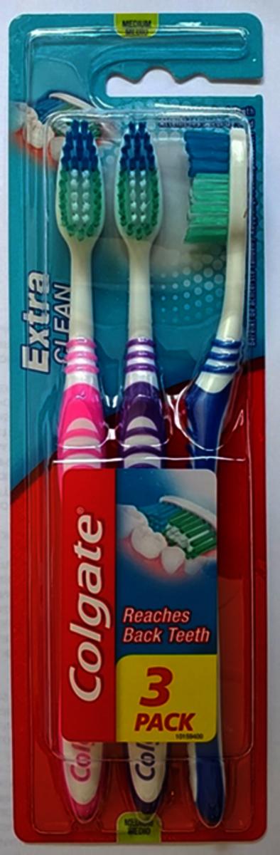 倍效潔淨牙刷 (中毛) 3's (平行進口)