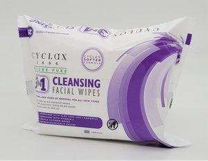CYCLAX 三合一潔面濕紙巾 (25片裝/包) 1包