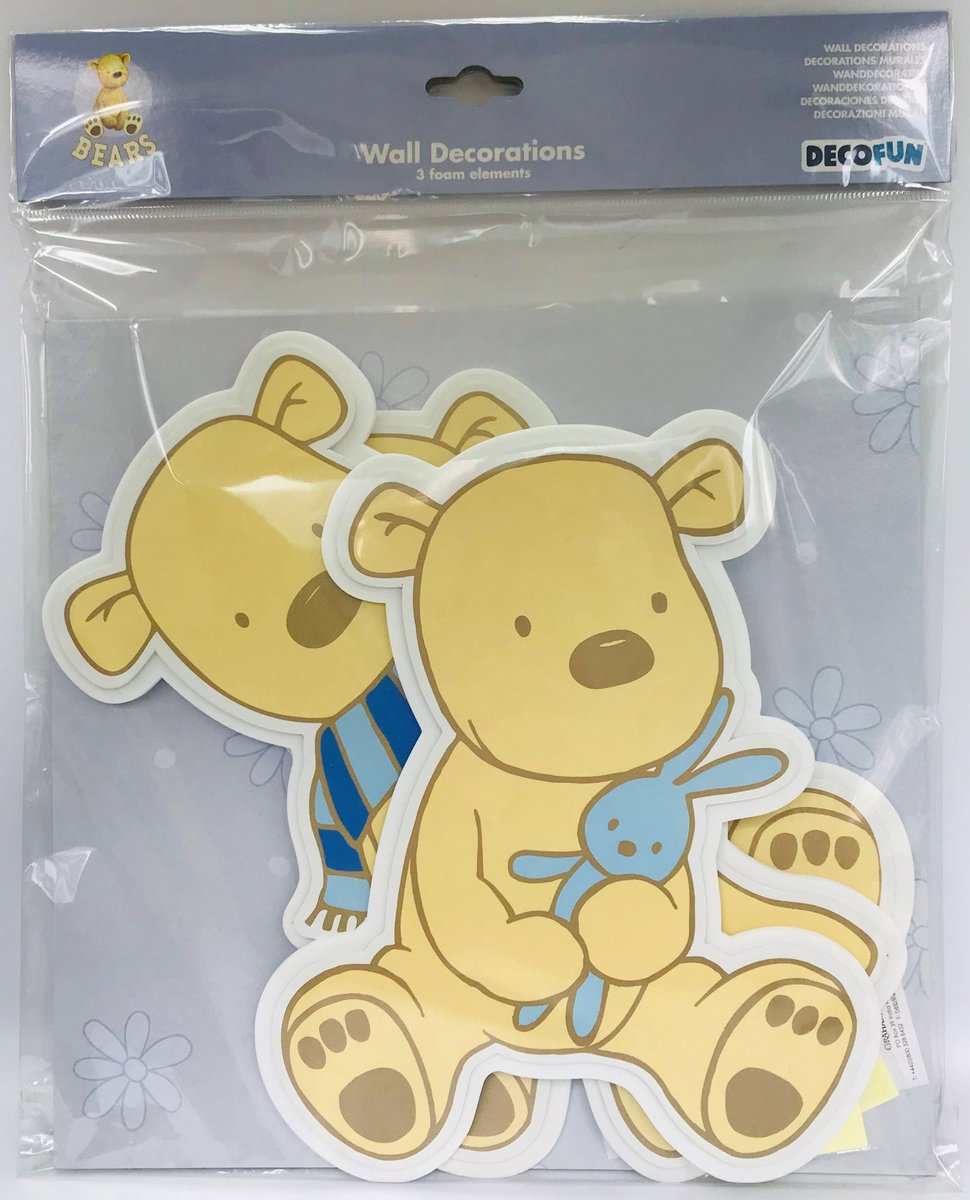 BEARS FOAM WALL DECORATIONS 3's (parallel import goods)